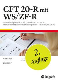 CFT 20-R mit WS/ZF-R komplett bestehend aus: Manual CFT 20-R, Beiheft CFT 20-R, Testheft CFT 20-R, 10 Antwortbogen CFT 20-R, 10 Auswertungsbogen CFT 20-R, Manual WS/ZF-R, je 2 Testhefte Form A+B WS/ZF-R, Schablonensatz WS/ZF-R und Mappe CFT 20-R mit WS/ZF